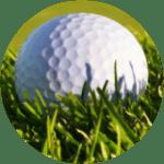 golf ball in grass in Myrtle Beach