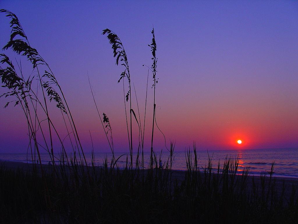 Sunrise on the grand strand.
