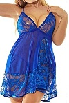 Lingerie full figure blue
