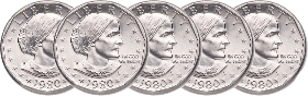 Susan B. ANthony silver dollars