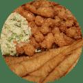 Fried Calabash seafood platter