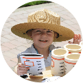 Child wearing park ranger hat