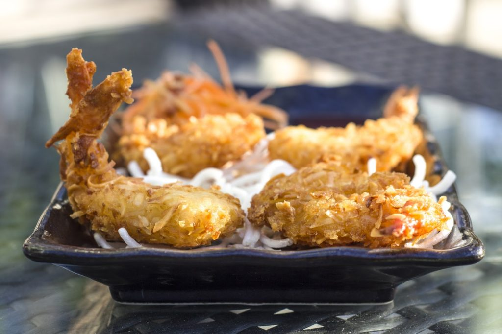Coconut fried shrimp platter in Calabash, NC