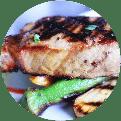Grilled tuna dish served in Myrtle Beach