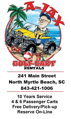 Ajax Golf Cart Rental ad