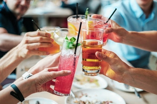 cocktail toast in Myrtle Beach
