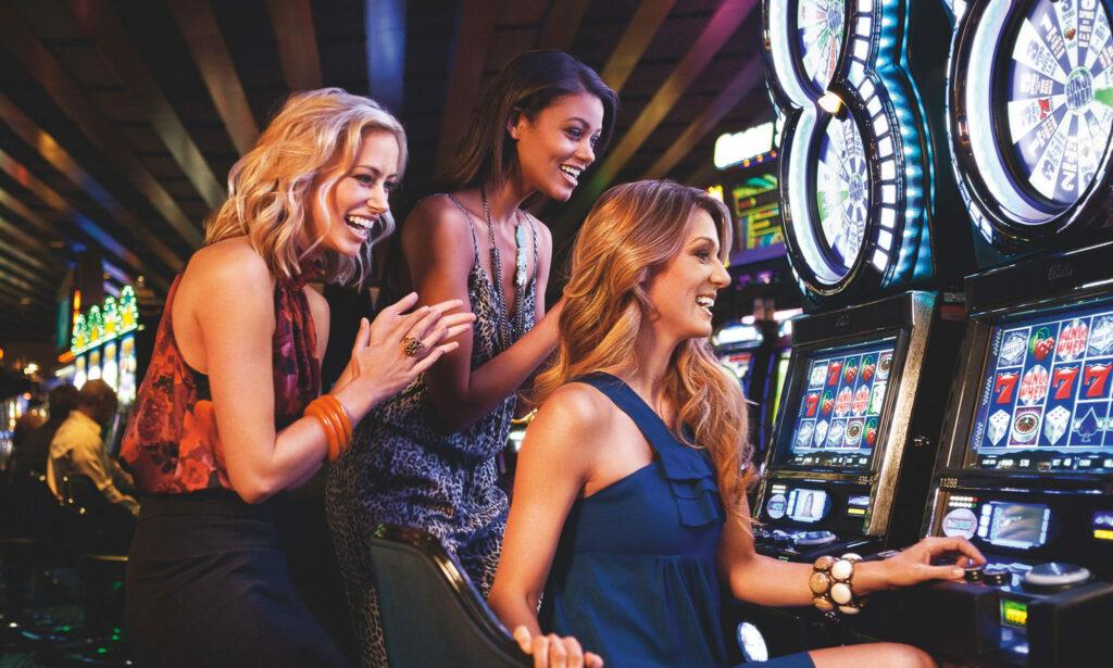 ladies playing slot machines