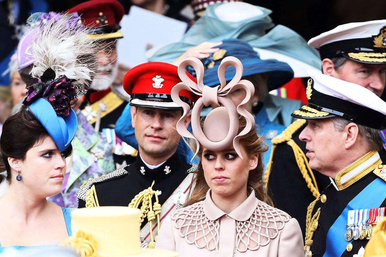 Brit ladies wearing fascinator hats