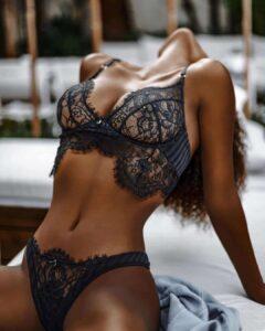 Lady wearing lingerie