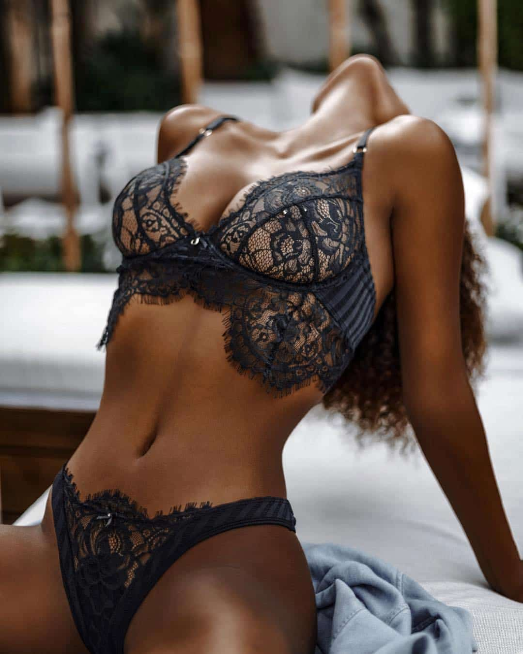 Lady wearing lingerie