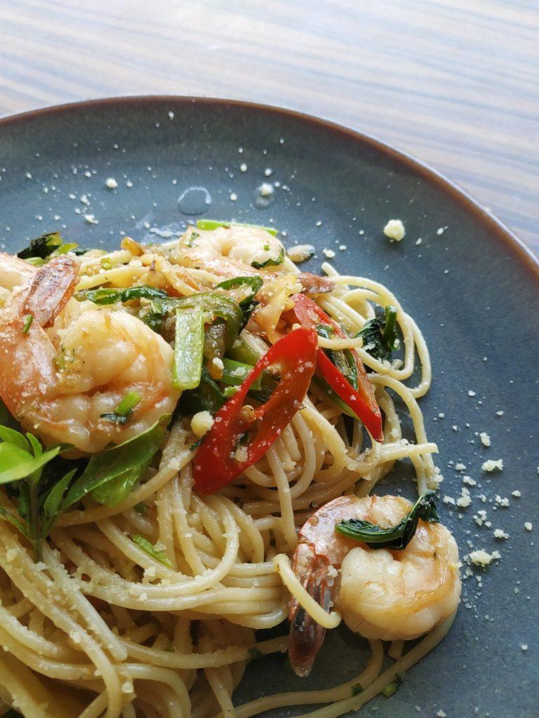 Pasta seafood dish