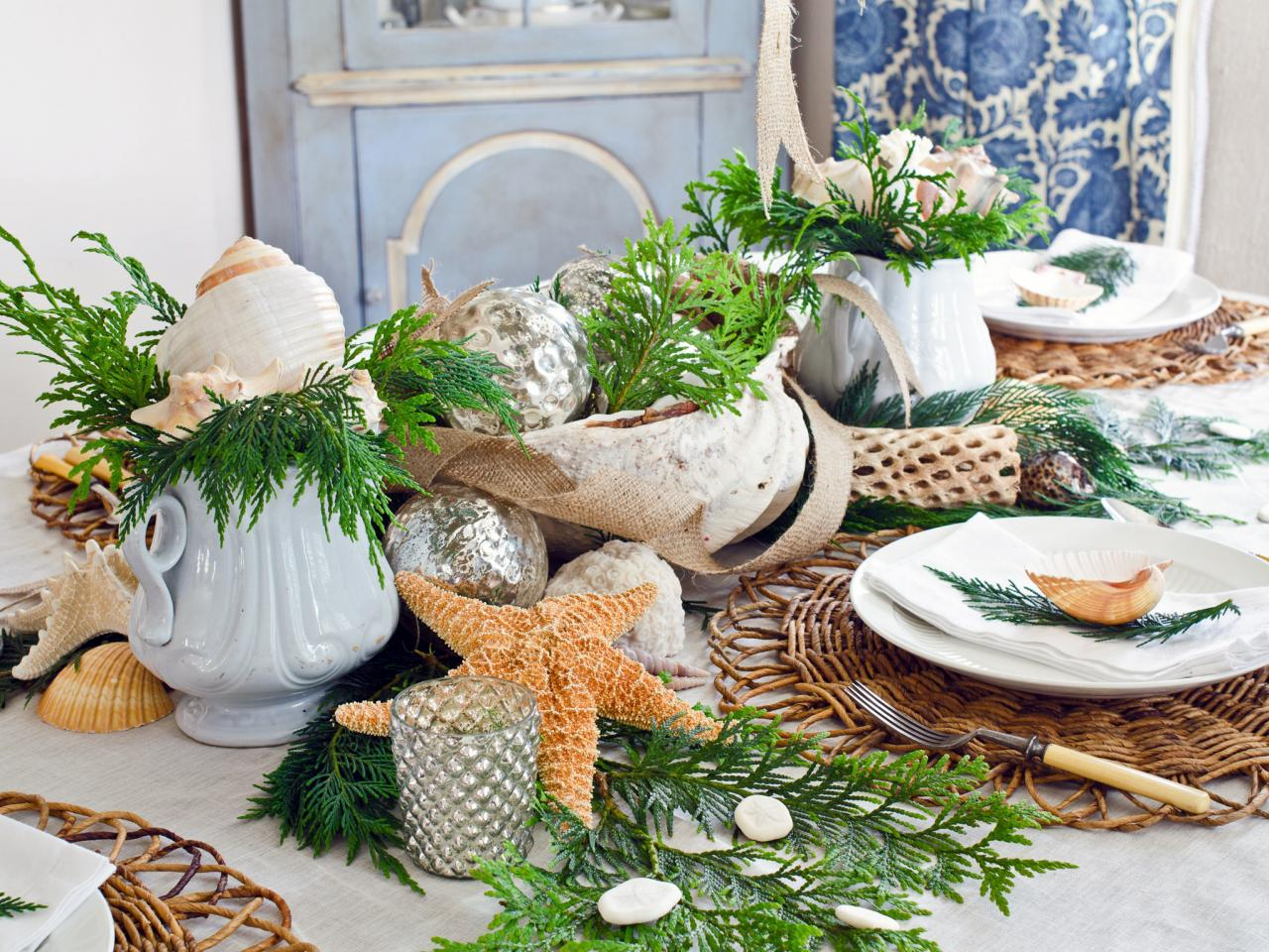 Nautical Christmas table setting