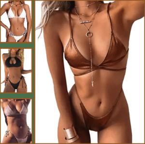 lady wearing Brazilian Cut Swimsuits