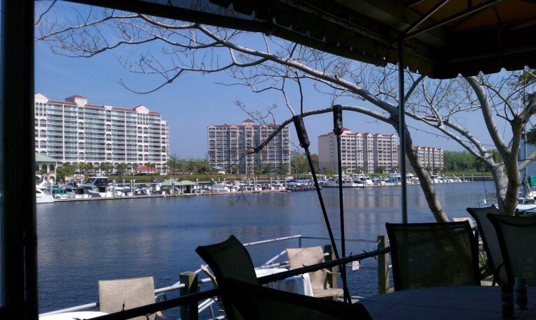 Waterway restaurant patio